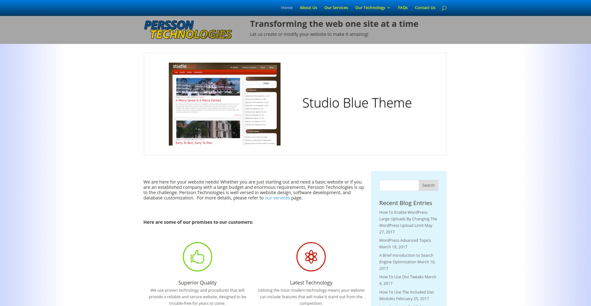 05-2017-07-04 - home page with slideshow