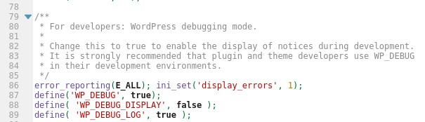 Setup debugging mode