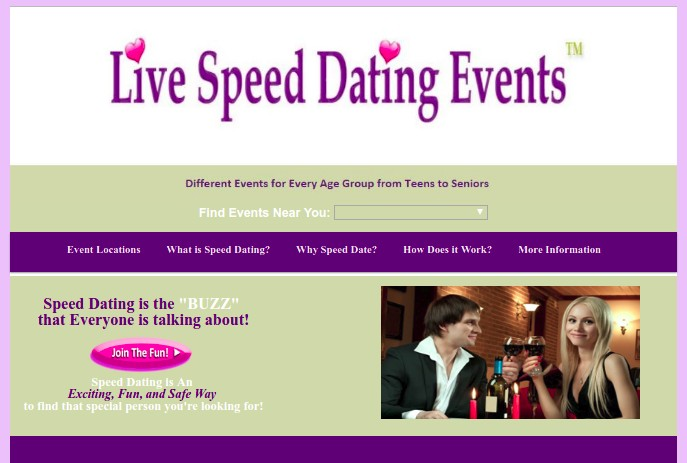 Live Speed Dating Events Website