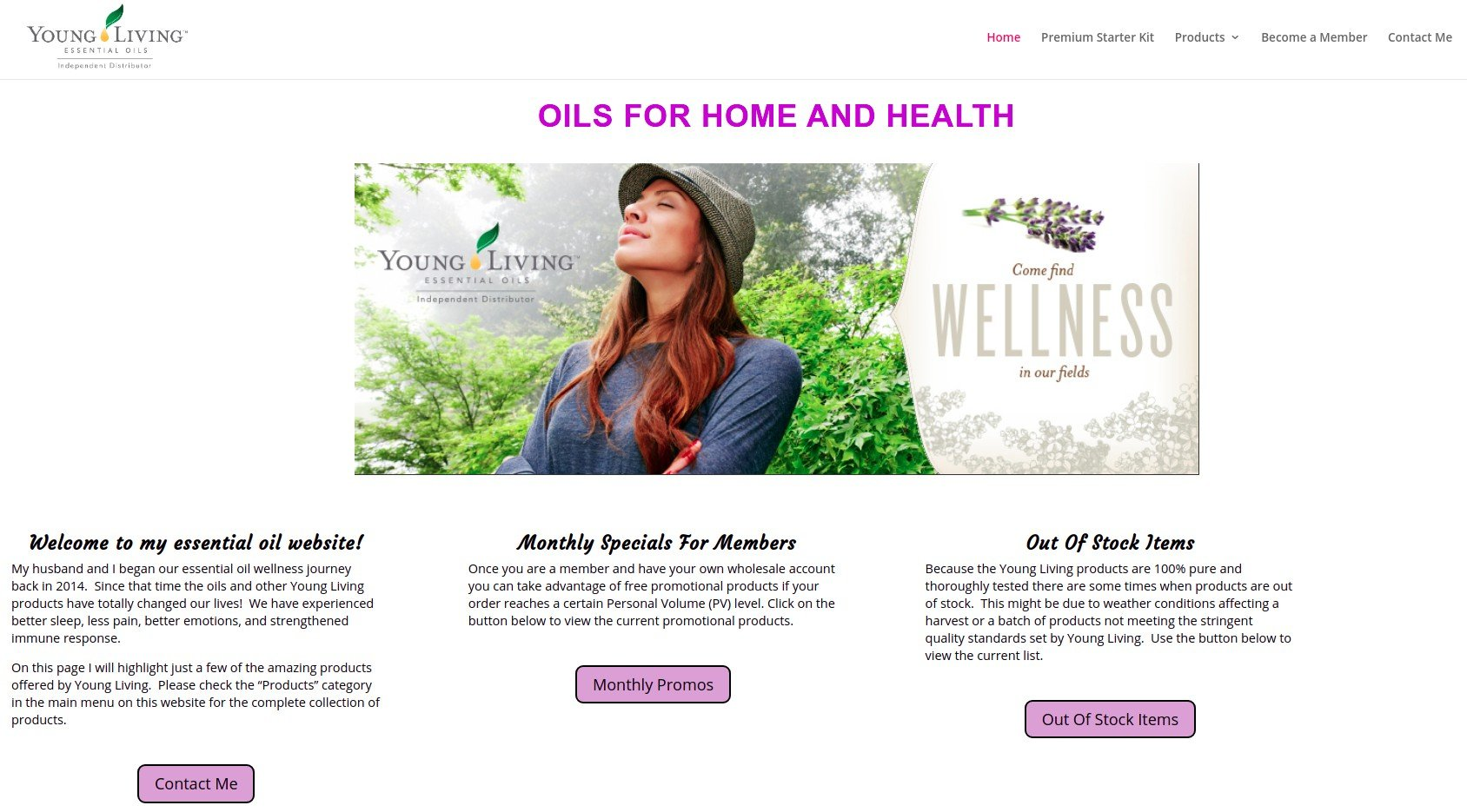 Oils For Home And Health Website